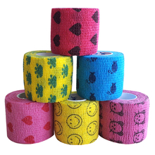 5M Pet Horse Dog Cat Animal Wound Non Woven Cohesive Bandage Self Adherent Wrap Tape Pet Finger Arm Bandage Tapes #5 6pcs pack 1x5yards color elastic self adhesive non woven bandages cohesive wrap bandages tapes for emergency wound treatment