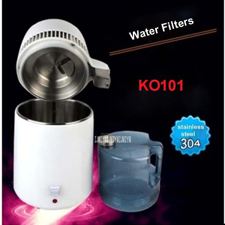 KO101 110 V / 220 V Distiller Distillation Filter Machine Water Purifier Clean Equipment 4L Volume 304 stainless steel Material
