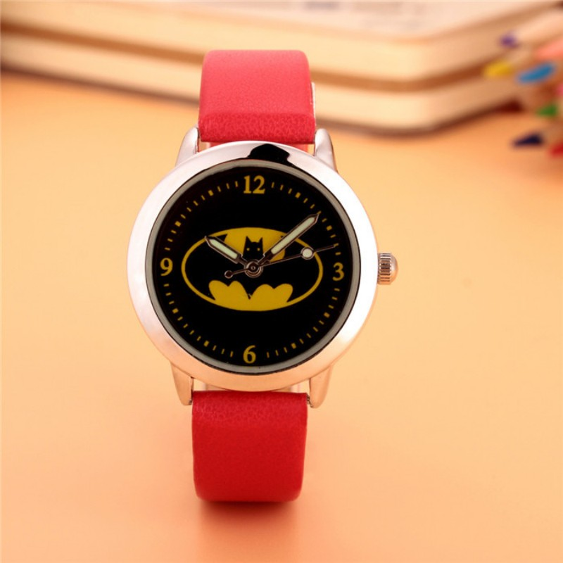New Fashion Batman Design Kids Watch Quartz Jelly Clock Boys And Girls Good Gift Students Wristwatches Relogio Kol Saati Clock