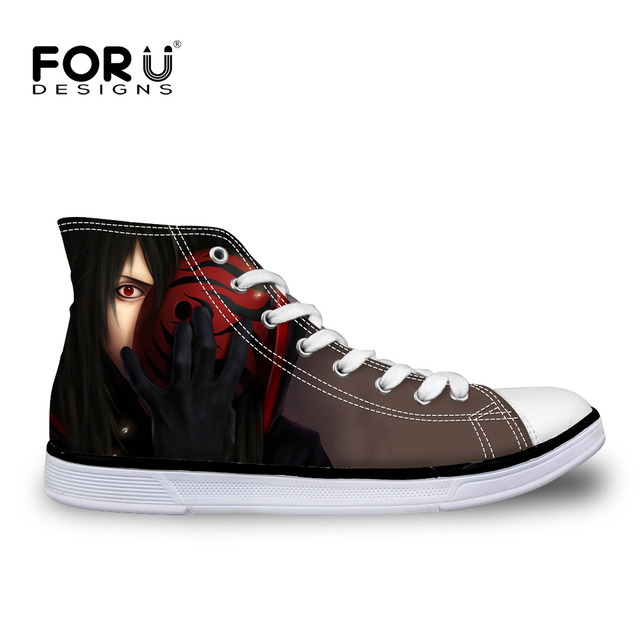 Converse-style Naruto high top sneakers