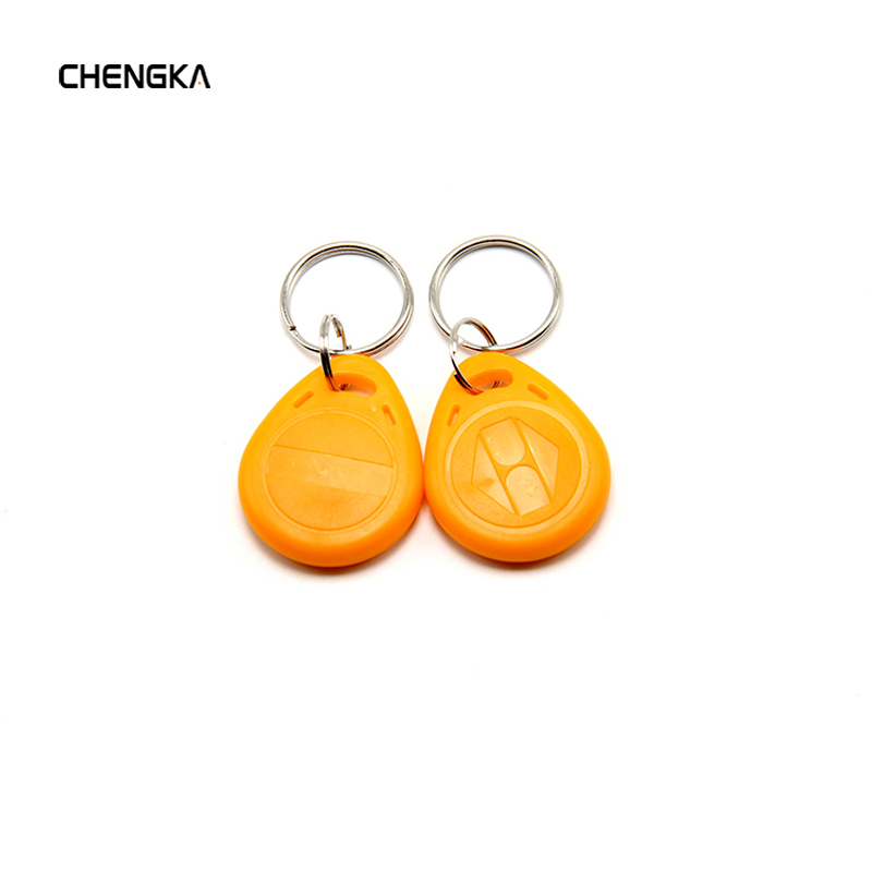 10 Pcs EM4100 Badge Key 125khz ID Keyfob RFID TK4100 Tag Tags Card Sticker Fob Token Ring Proximity Chip Dropshipping