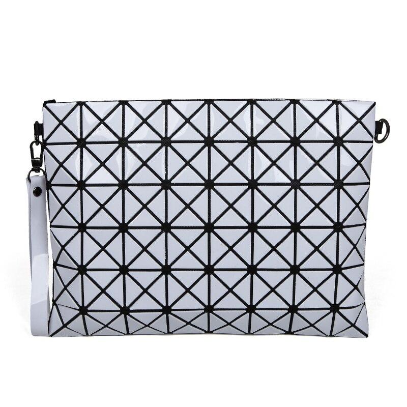 nuevo de las mujeres bao bao bolsa paquete geometra luminoso lentejuelas espejo llano plegable bolsos