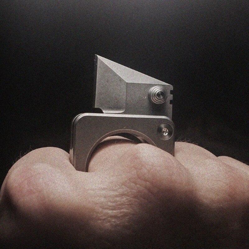 Edc Liga De Titânio Anel um Pingente Paracord Outdoor Decorações Tools