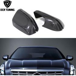 Углерода волокно заднего вида боковое зеркало Обложка для Cadillac xts седан 2014 2015 2016 углерода боковые зеркала шапки сменный, декоративный, для