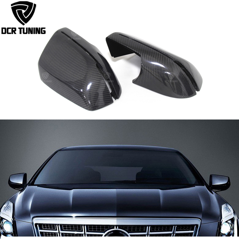 Carbon Fiber Rear View Side Mirror Cover For Cadillac XTS