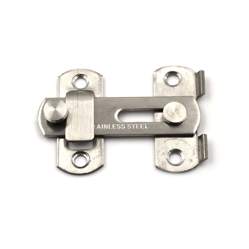 Furniture Accessories Sincere Silver Useful New Arrival Practical 20x50x70mm Home Gate Safety Security Door Guard Stainless Steel Bolt Slide Lock Hot Sale