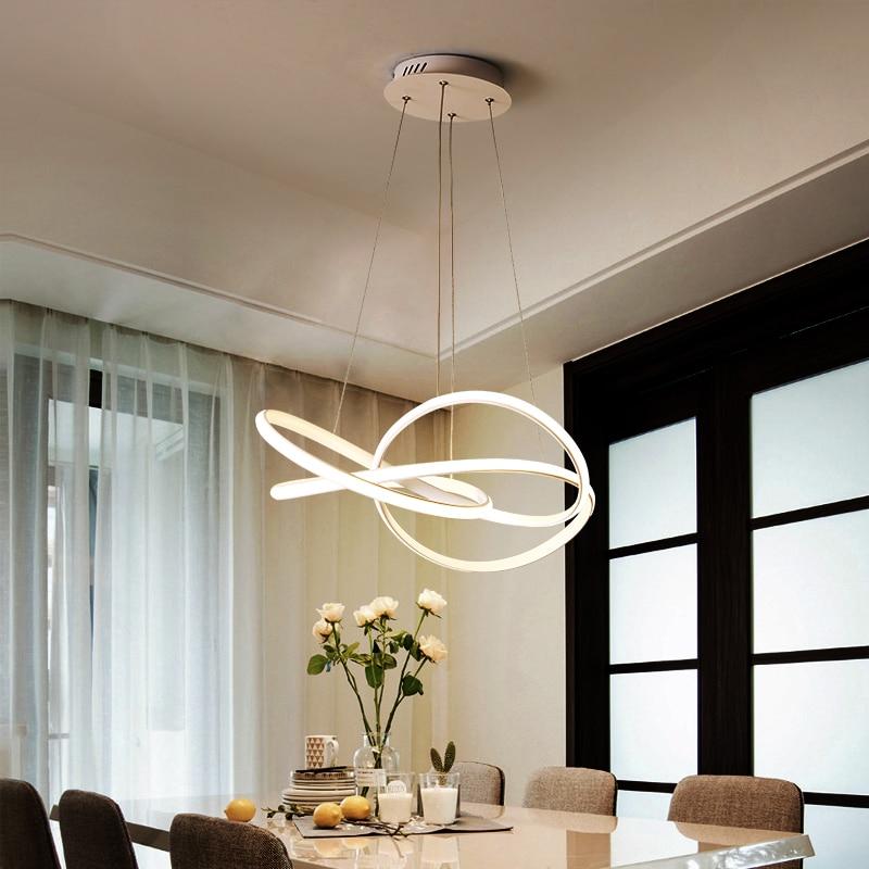 Image 5 - Postmodern minimalist chandelier atmosphere creative personality living room Dining Room Nordic art restaurant Chandelier-in Chandeliers from Lights & Lighting