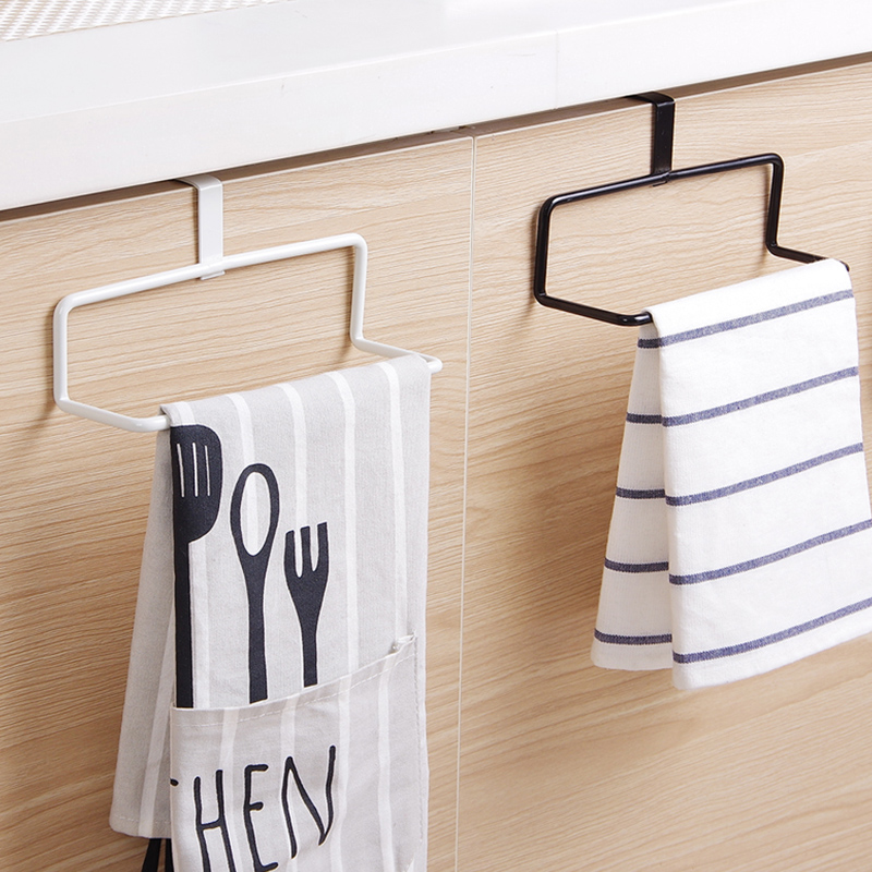 Practical Kitchen Toilet Paper Towel Rack Paper Towel Roll Holder Cabinet Hanging Shelf Organizer Bathroom Kitchen Accessories