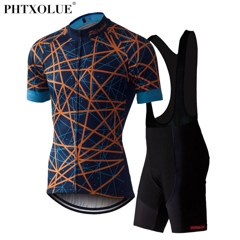 Phtxolue Cycling Clothing Wear Bike Men Clothes Ciclismo Kit Bicycle Jersey Set Team Cycling Jersey SF023