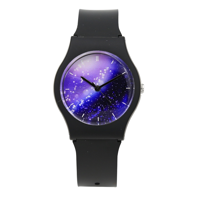2017 New Fashion Harajuku Purple Star Transparent Students Children Water Resistant Jelly Watch Girls Boys Sports Wrist Watch