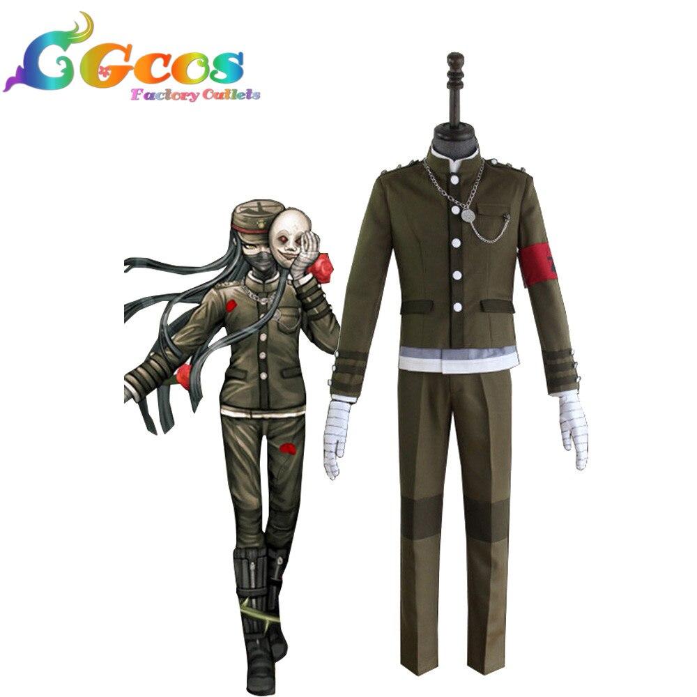 CGCOS Бесплатная доставка Косплэй костюм Danganronpa V3: убийство Harmony Korekiyo Shinguji форма новые акции Хэллоуин Рождество форма
