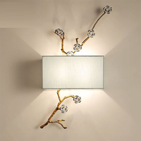 Chinese style fabric wall lamp modern wall lights for home