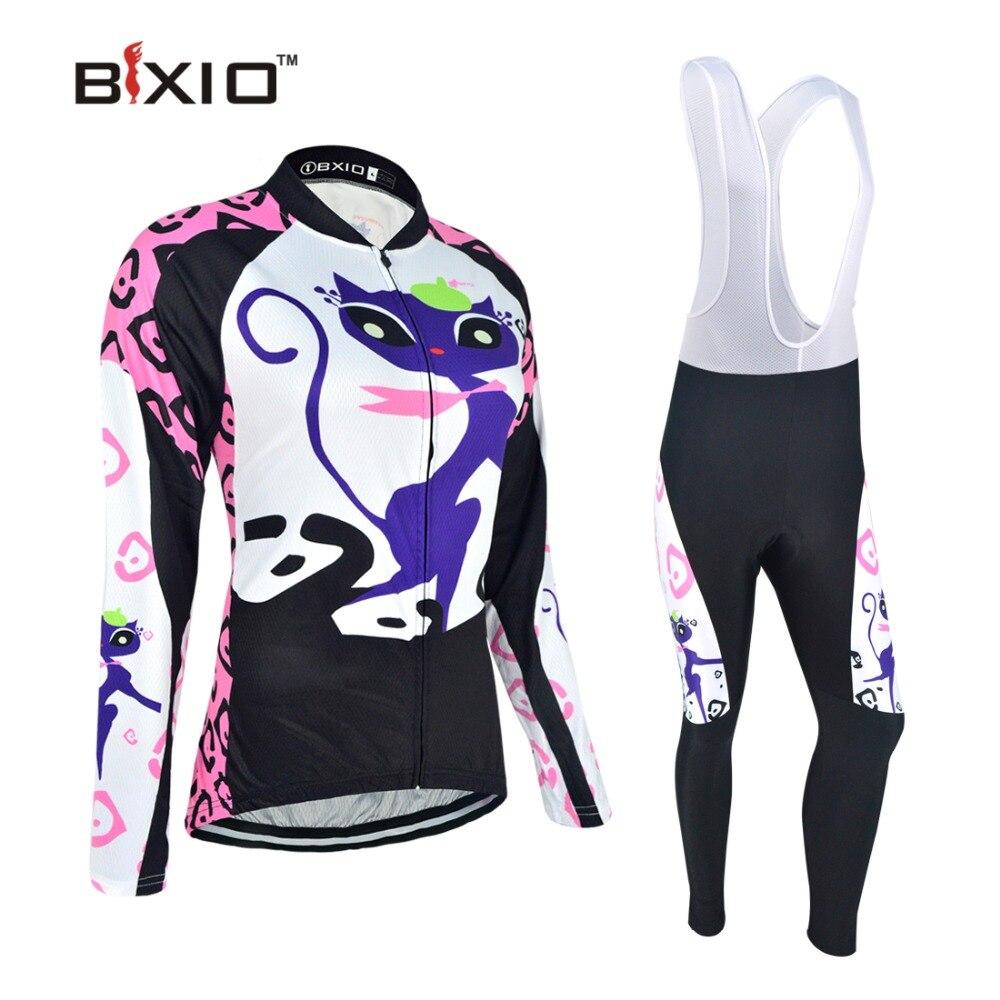 Bxio Mulheres Fleece Inverno Camisa de Ciclismo Conjunto Camisa Ropa de  Ciclismo Bicicleta de Manga Longa Roupas Esporte Jerseys Ciclismo Conjunto  P044 7f5e572724299