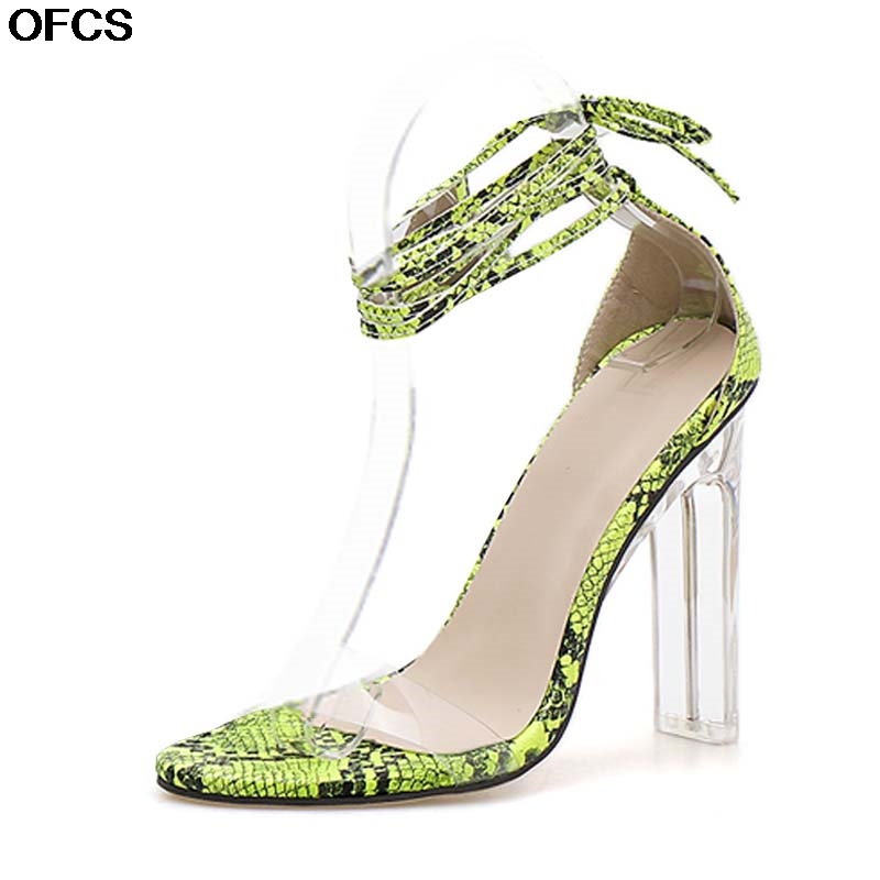 New Summer Sexy Sandals Open-toed Serpentine Women Sandals Ankle Strap Sandals Transparent heels Shoes Party Ladies Female shoesNew Summer Sexy Sandals Open-toed Serpentine Women Sandals Ankle Strap Sandals Transparent heels Shoes Party Ladies Female shoes
