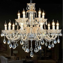 Luxury crystal candle chandeliers, living room, hall lights