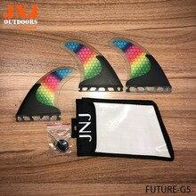 JNJ top quality half carbon future Tri-set M G5 fins for surfboard future fins 3pcs a set with strong jnj bag