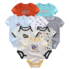 kiddiezoom 8 PCS/lot Newborn Baby Short Sleeve 100% Cotton