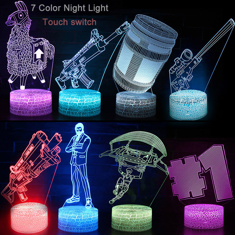 Kids Bedroom Decoration Sleep Light Battle Royale LED Projection Lamp Party Supplies Christmas Gifts