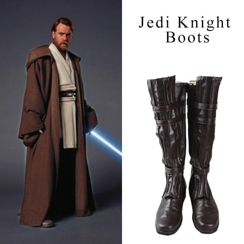 Star Wars Jedi Caballero Cosplay zapatos Obi-Wan Kenobi Mace Windu Anakin Skywalker Darth Vader zapatos