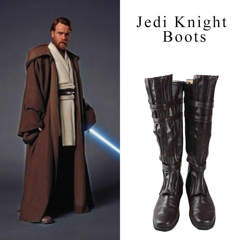Star Wars Jedi Knight Cosplay zapatos Obi-Wan Kenobi Mace Windu Anakin Skywalker Darth Vader zapatos