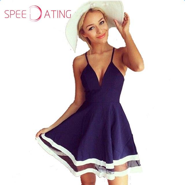 Color block skater dress for women