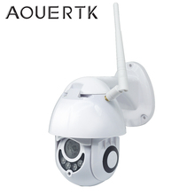 AOUERTK 스피드 돔 카메라 1080P 무선 야외 방수 IP 카메라 2MP PTZ 클라우드 보안 카메라 와이파이 CCTV 카메라