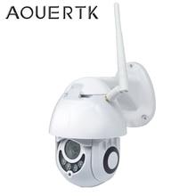 Скоростная купольная камера AOUERTK 1080P беспроводная наружная водонепроницаемая IP камера 2 Мп PTZ облачная камера безопасности Wi Fi камера видеонаблюдения