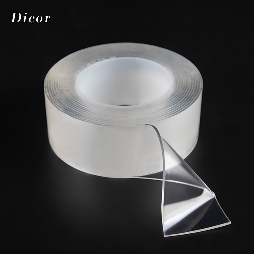 1M 3M 5M Strength Acrylic Gel Transparent Double Sided Tape Household Wall Hangings Adhesive Glue Tapes Car Sticker DIY Material