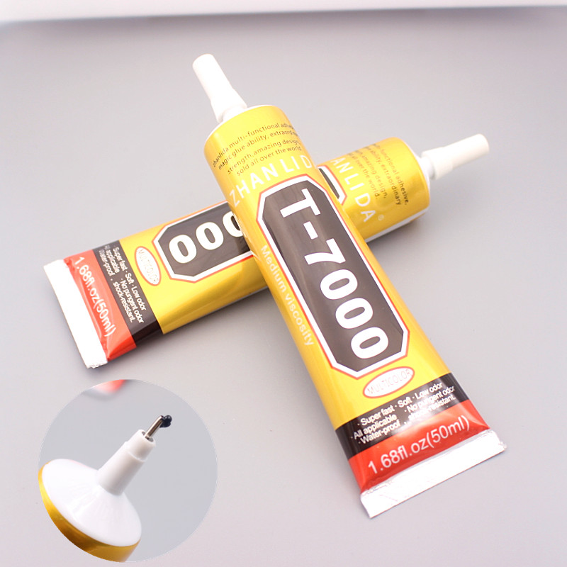 50ml T-7000 more powerful new epoxy resin adhesive T7000 black liquid glue super sealant handset touch screen rack maintenance zhanlida t 7000 50ml epoxy resin black glue repair crack lampshade move the door shoes multi purpose t7000 glue gun page 6