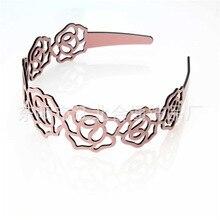 Hollow Rose Exquisite Acetate Resin Headbands For Women Korea Hair Accessories Elegant Hair Band Hair Bows Flower Crown Hairband недорого