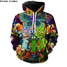 PLstar Cosmos 2018 Fashion Brand 3d hoodies cartoon rick and morty print Women Men Hoody Streetwear