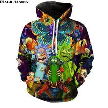 3976b0b98 PLstar Cosmos 2018 Fashion Brand 3d hoodies cartoon rick and morty print  Women Men Hoody
