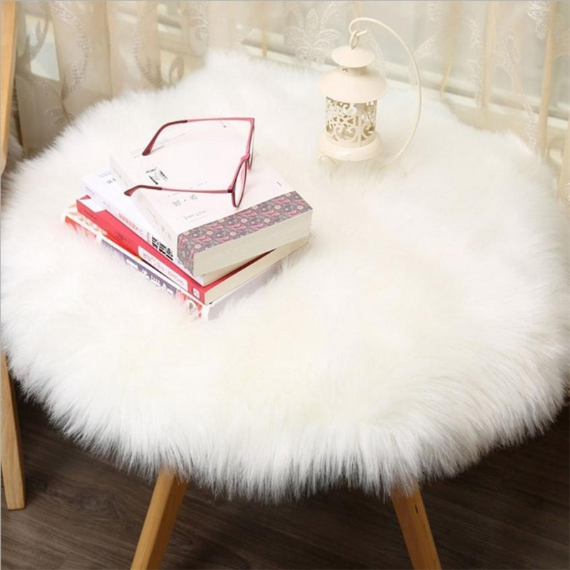 2018 New Soft Artificial Sheepskin Rug Chair Cover Artificial Wool Warm And Cozy Hairy Carpet Seat Pad 04