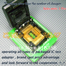 QFP100PIN программист адаптер TQFP100 QFP100-DIP48 QTP-100065-003 адаптер/гнездо IC/ИК тест гнездо