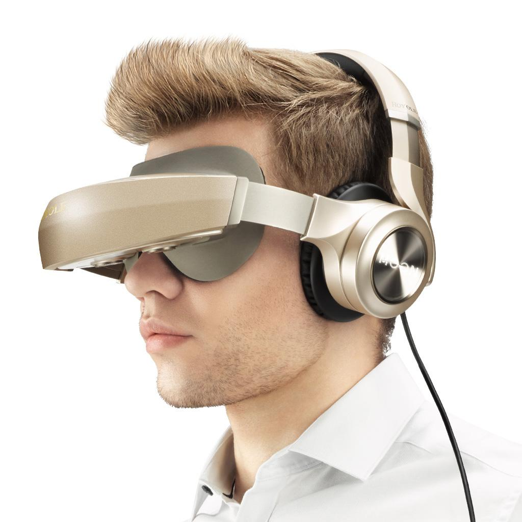 Royole 3D VR Glasses All In One With HIFI Headphones 3D Virtual Reality Glasses Touch Control HDMI Mobile Cinema For PC