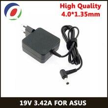 QINERN EU 19V 3.42A 65W 4.0*1.35 Power Chargerอะแดปเตอร์สำหรับแล็ปท็อปสำหรับAsus Zenbook UX32VD UX305CA Ux31a x201e Ux305f S200e ADP 65DW