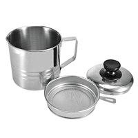 Функциональные Кухня чашка фильтра Нержавеющаясталь масляный фильтр оранжевый/лимон Фильтры с ручкой и крышкой соевого молока контейнер ...