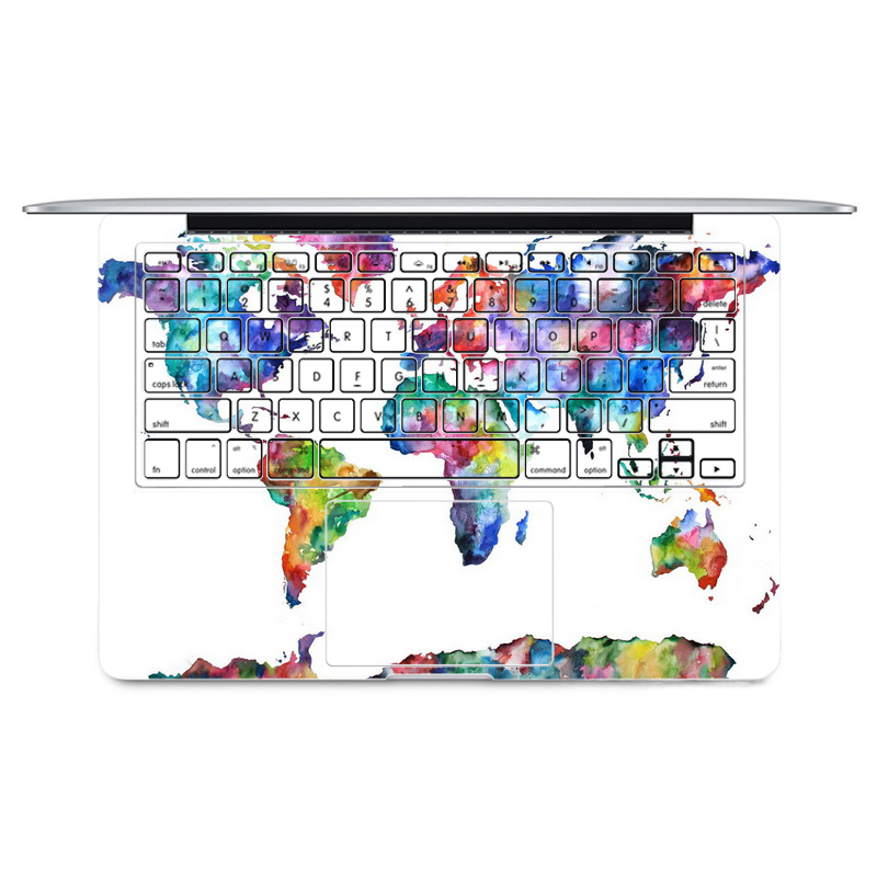 2016 world map laptop sticker keyboard side full vinyl decal skin 2016 world map laptop sticker keyboard side full vinyl decal skin for apple macbook air1113 retinapro 1315 new12 in laptop skins from computer office gumiabroncs Gallery