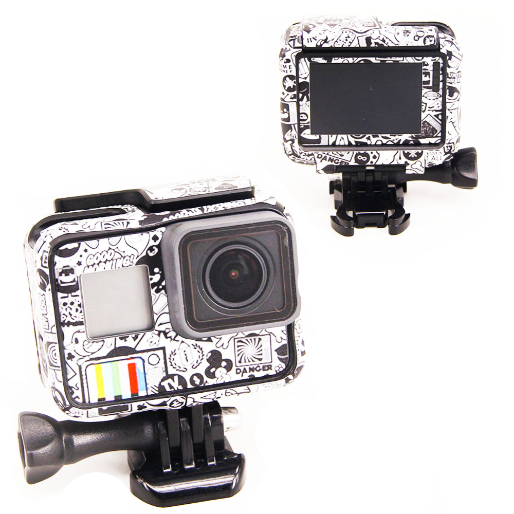 منتج جديد لـ Gopro Hero 5 Hero 6 Hero 7 stickers for Go Pro 5/6 Sport Camera Hero5 Hero6 / 7 حامي حالة الجلد