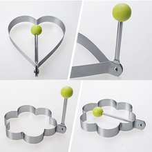 4Pcs Egg Pancake Mold Handle Fold Mould Shape Cooking Tools Cook Egg Decorating DIY Home Omelette Machine Bakery Tools