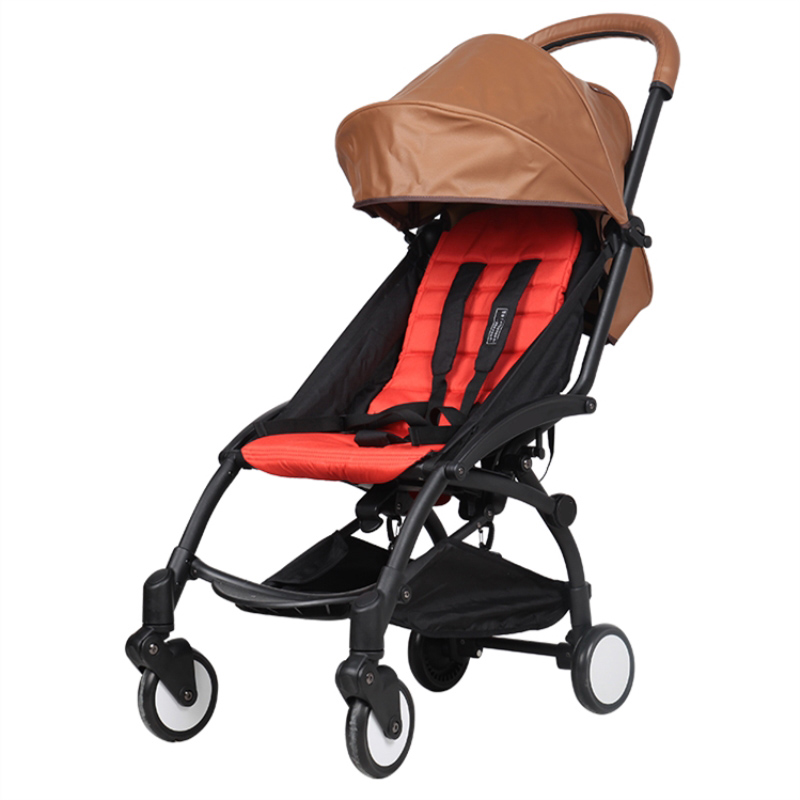 Universal Baby Stroller PU Leather Sunshade Canopy and Cushion Cover Mat Mattress Stroller Accessories for Baby Stroller prams esspero canopy