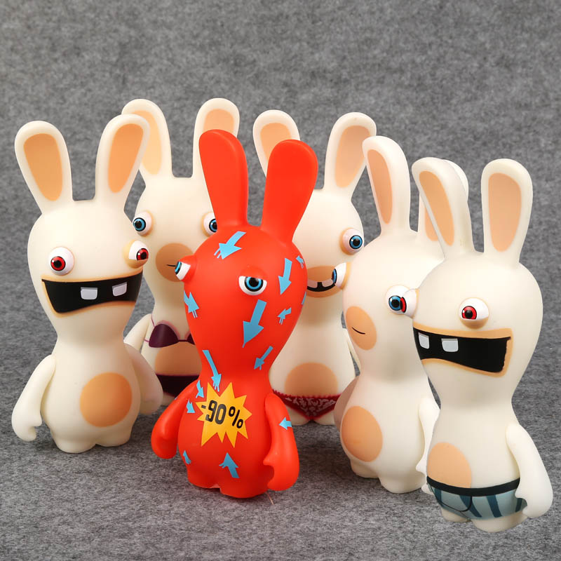 Rayman Raving Rabbids PVC Action Figures Collectible Model Toys Kids Toys Gifts 6 14cm 6pcs/set 12pcs set children kids toys gift mini figures toys little pet animal cat dog lps action figures
