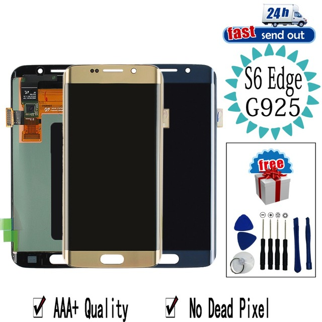 AMOLED LCD For SAMSUNG Galaxy S6 edge G925 LCD Display G925F Touch Screen Tested Digitizer Assembly
