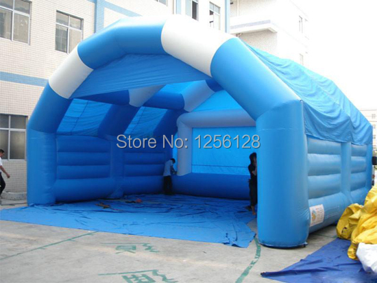 Wholesale Blue Inflatable Structure  For Trade Show/Exhibition Promotion emoshire promotion high end exhibition