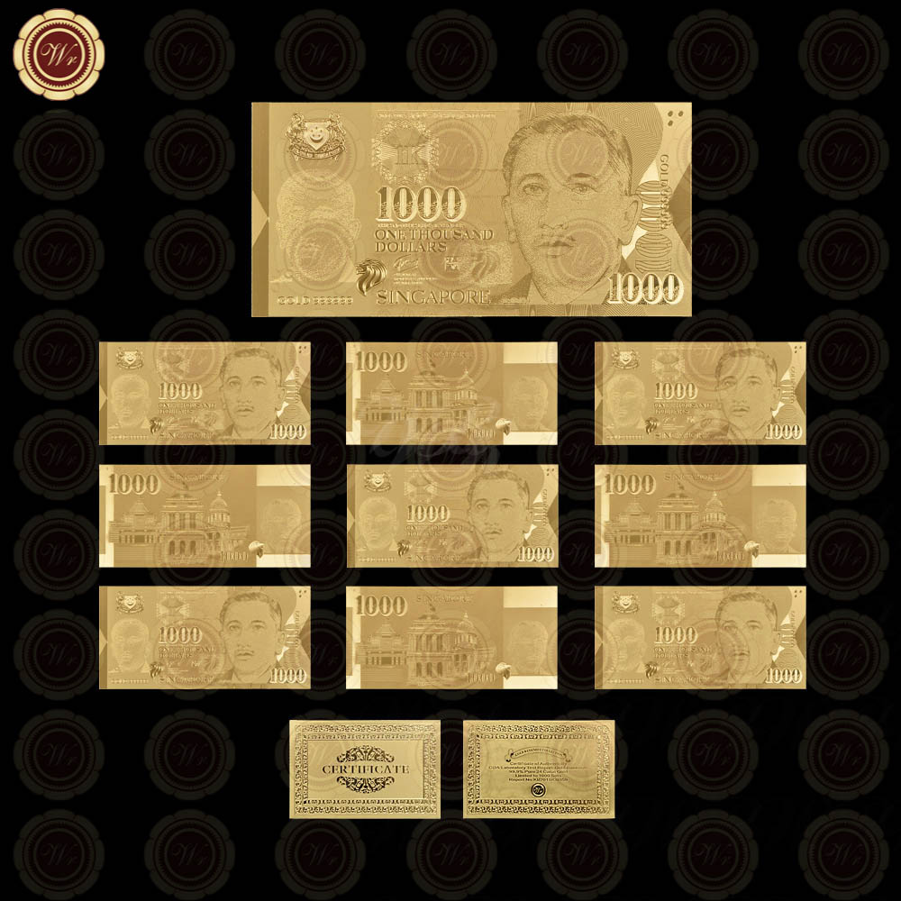 Wr luxury home decor 1000 dollar 24k gold banknote quality - Home decor home business collection ...
