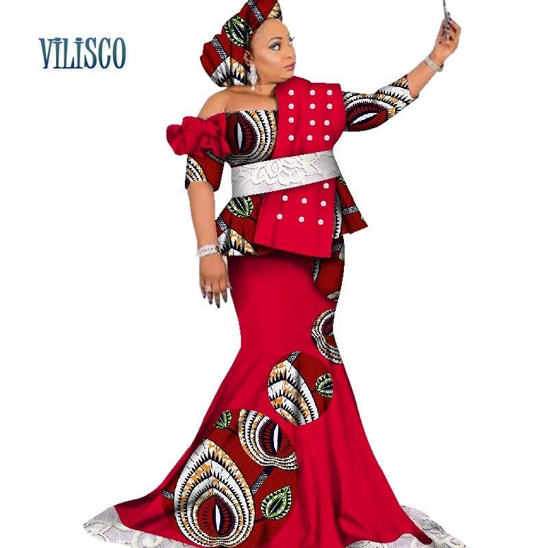 5 Femmes 2 15 Jupe Splice 4 16 Pièce Et 12 Vêtements 2 Africaine Africain 1 6 Maxi Pour Dashiki Tops Bazin Ensembles Riche 14 Longue 13 20 19 Perle 3 Wy2640 18 17 Lacet De 1XSxOn
