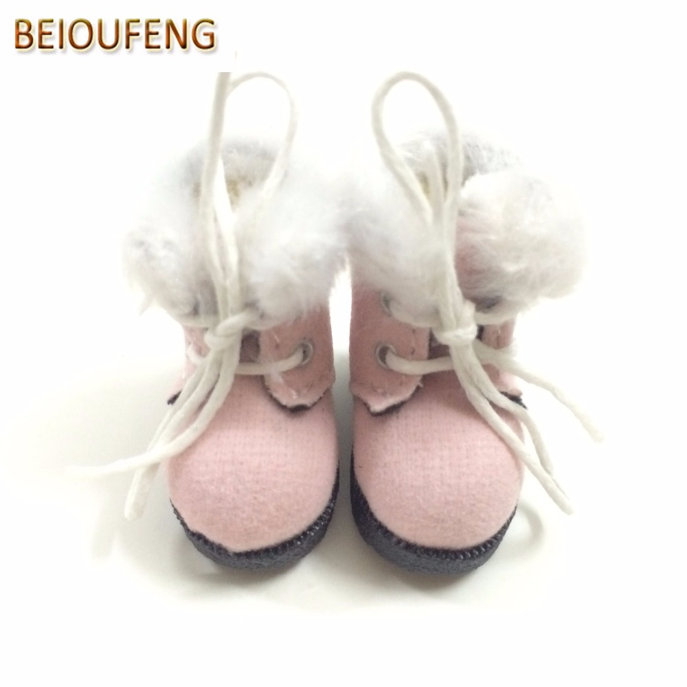 BEIOUFENG BJD Doll Shoes High Boots for Dolls,3.2CM Sneakers for Dolls,Causal Canvas Shoes for Blythe Doll Toy 6 Pair/Lot