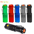 2000 Lumens Lanterna Tocha Cree Q5 LED Zoomable 3 Modos Mini Camping Lâmpada Luz Do Flash Caça Lanterna 14500 AA Hot venda