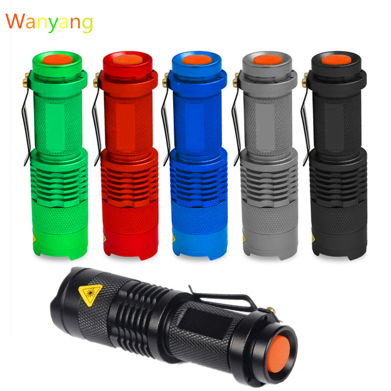 SANYI 2000 Lumens Flashlight Torch Q5 LED Zoomable 3 Modes Mini Camping Hunting Flash Light Lantern 14500 AA Lamp Hot Sale 300 lumens led camping lamp light torch light flashlight 3 modes led camping light outdoor tent lantern for travel hiking