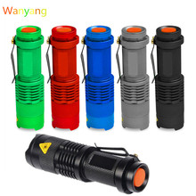 SANYI 2000 Lumens Flashlight Torch Q5 LED Zoomable 3 Modes Mini Camping Hunting Flash Light Lantern 14500 AA Lamp Hot Sale
